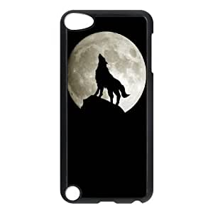 Customized Dual-Protective Case for Ipod Touch 5, Wolf and Moon Cover Case - HL-R664787