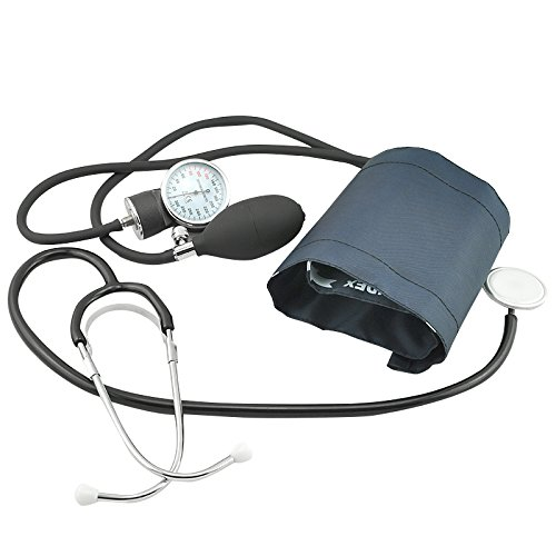 Carejoy Preciseness Blood Pressure Cuff Monitor and Stethoscope Set with Free Carry Case