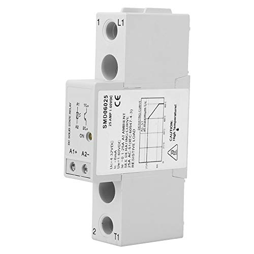 Single Phase Solid State Relay, Dc 4-32VDC Control 1-60VDC Din-Rail Slim Solid State Relay Module (SMD06025)