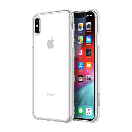 Griffin Reveal iPhone Xs Max Case with Scratch-Resistant and Ultra-Thin Hardshell Back - Clear -