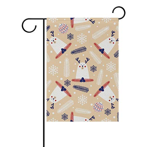 Chic Houses Lovely Animals Reindeer Cartoon Pattern Seriess Outdoor Garden Flags Creative Design Funny Vertical Double Sided Home Decorative House Yard Sign 12 x 18 Inch 2030479