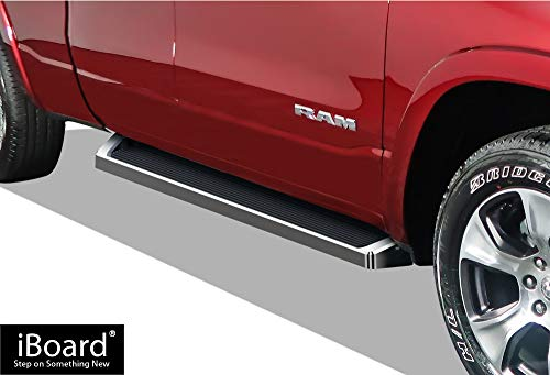 APS iBoard Running Boards Style Custom Fit 2019-2020 Dodge Ram 1500 Quad Cab Pickup for New Body Style Only (Will Not Fit 2018 Model) (Nerf Bars Side Steps Side Bars)