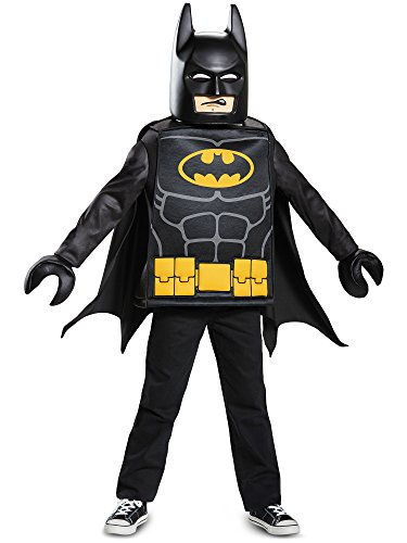 Disguise Batman Lego Movie Classic Costume, Black, Medium (7-8)]()