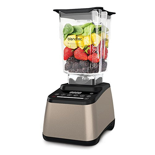 Blendtec Champagne Designer 675 Blender with WildSide+ Jar and Tuttle Juices and Smoothies Cookbook