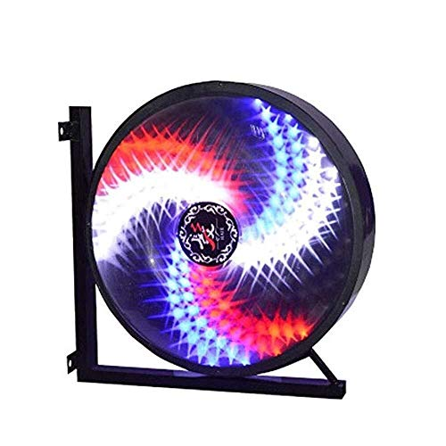 Barber Shop LED Turn Lights Outdoor Wall Windmill Round Light (Size : 45x28x45cm) ()