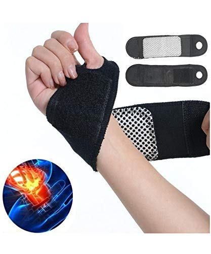 Yirind Self-Adhesive Magnetic Therapy Self-Heating Wristband Sports Hand Protection Hand & Wrist Braces,1Pair