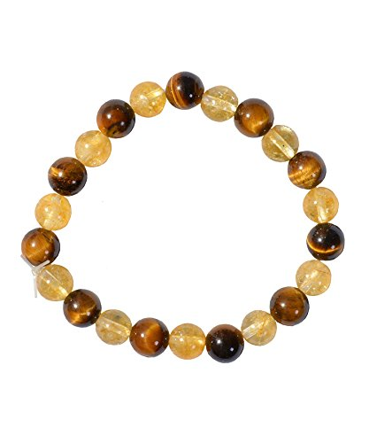 Citrine Tigers Eye Bracelet - Citrine and Tiger's Eye Bracelet 4 Prosperity N Energize Solar Plexus Chakra Crystal Healings