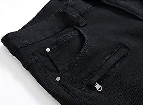 2 Pantalon Droit Jeunes La Bolawoo Demi De schwarz Garçons Détruit Mince Chic Short Mode Court 77 En Jean Déchiré Pour Extensible D'extérieur Hommes tw1Pq