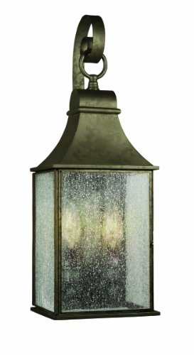 - World Imports 61308-06 Revere Collection Outdoor 2-Light Wall Lantern, Flemish
