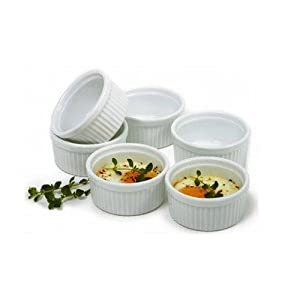 Norpro 258 Porcelain 3-Ounce Ramekins, Set of 6 New
