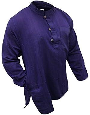 Plain Grandad Shirt