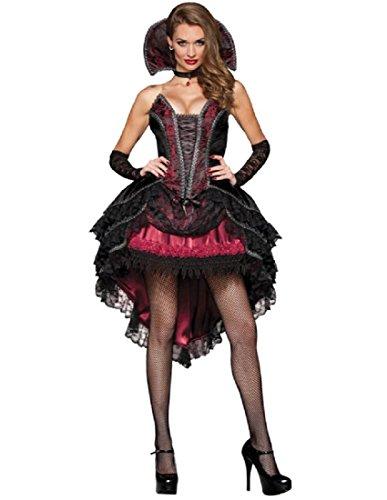 InCharacter Costumes Women's Vampire's Vixen Costume, Black/Red, -
