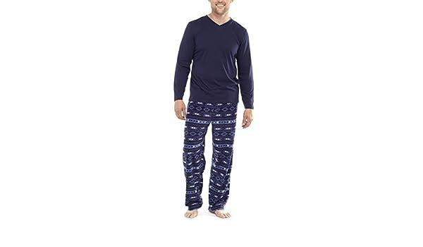 i-Smalls Pijama de invierno para hombre, con camiseta y pantalones muy suaves de tela polar con estampado fantasía, tallas de la S a la 5XL: Amazon.es: Ropa ...