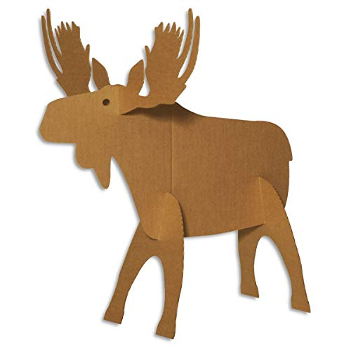 - Mighty Moose Sturdy Cardboard Kit, Holiday Decorating Kit, 44 in x 37 in x 46 in, Assembly Required