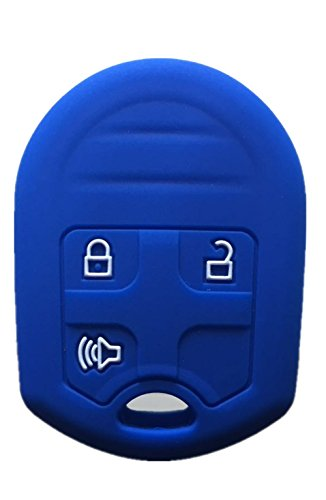 Rpkey Silicone Keyless Entry Remote Control Key Fob Cover Case protector For Ford E-150 E-250 E-350 Super Duty F-150 F-250 F-350 Explorer Edge Flex Fusion CWTWB1U793 164-R8070 CWTWB1U793