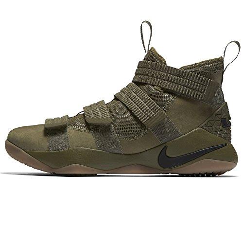 Men's Basketball 10 Medium Black Nike Lebron Black Olive Shoes Soldier 4adTxTOwIq