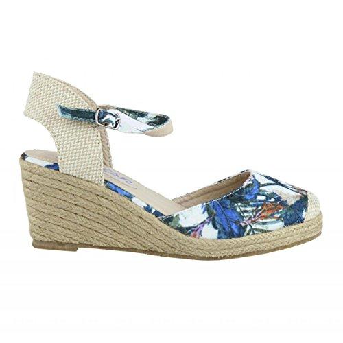 Chaussures compensées pour Femme REFRESH 61798 TEXF AZUL