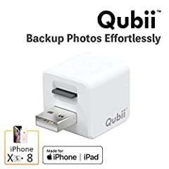 Qubii performs the dual roles of auto backup of critical iOS and iCloud device photos, videos, social media and contact information while also SIMULTANEOUSLY charging the device. This innovative iOS accessory is designed to safeguard life's m...
