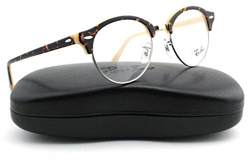 bb5579350a Galleon - Ray-Ban RX4246V ClubRound Unisex Eyeglasses (Havana Opal Peach  Frame 5239