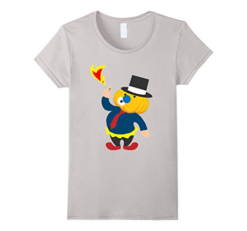 [Womens Funny clown with circus Halloween costume ideas T-shirt XL Silver] (Circus Costume Ideas)