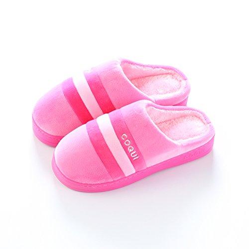 en hiver au Accueil Chaussons Pink 37 moelleux Chaussons antiglisse chaleureux Chaussons chaud LaxBa chaussures L'hiver l'hiver 38 Chambre Uwvz1z