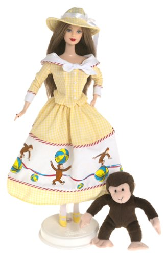 2000 Barbie Collectibles - Barbie and Curious George (Vintage Barbie Dolls For Sale)