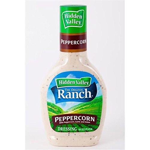 Hidden Valley Original Ranch Salad Dressing Cracked Peppercorn, 16 Fluid Ounces
