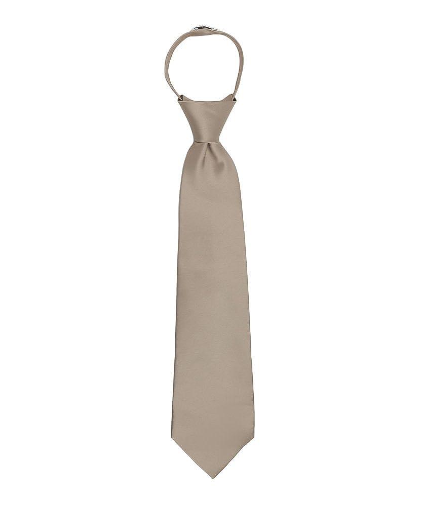 Jacob Alexander Boy's 11 Pretied Ready Made Solid Color Zipper Tie JPSBZE043