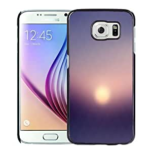 NEW Unique Custom Designed Samsung Galaxy S6 Phone Case With Sunset Haze Blur Pattern_Black Phone Case