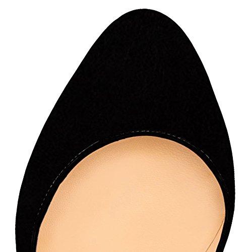 Aooar Femmes Plate-forme À Deux Tons Haute Spike Stiletto Pompes Daim Noir