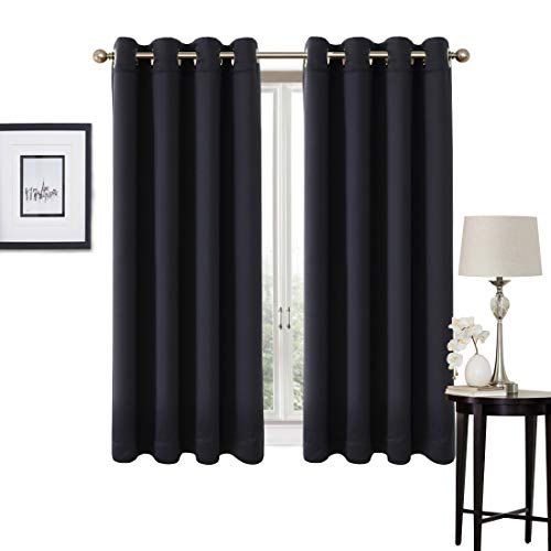 99% Blackout Curtains 2 Panels Set Thermal Insulated Window Treatment Solid...
