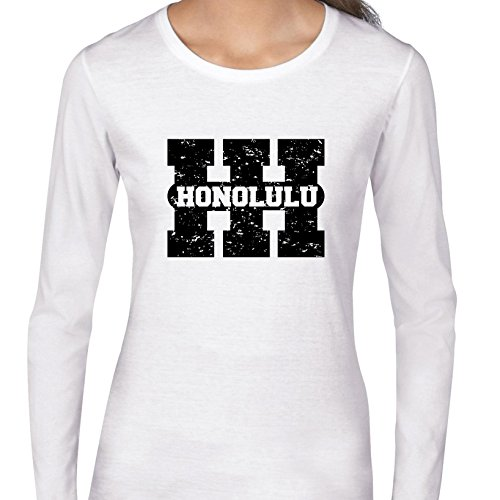 Honolulu, Hawaii Hi Classic City State Sign Women's Long Sleeve T-Shirt for $<!--$29.95-->