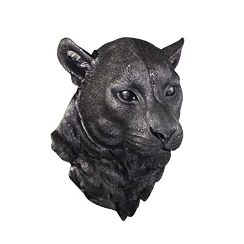 (WALL CHARMERS Large Black Faux Mountain Lion Head Wall Hanging - 17