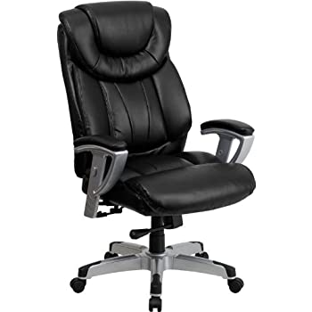 Flash Furniture HERCULES Series Big U0026 Tall 400 Lb. Rated Black Leather  Executive Swivel Chair