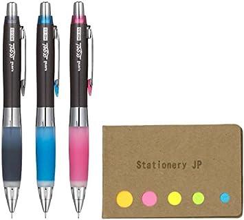 Pilot Super Grip Black Mechanical Pencil Light Green Sky Blue and Pink