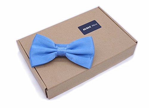 12pcs Men's Pre-tied Adjustable Formal Bow Tie Tuxedo Solid Bowtie by Avant Men