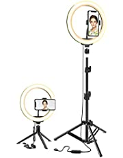 Ring Light LED Dimmable Lamp Selfie Ring Light with Tripod Stand for YouTube Video, Led Camera Ringlight for Live Stream, Makeup (Fill Light Bracket 10'')
