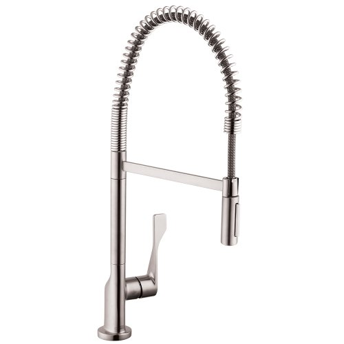 AXOR Citterio Luxury 1-Handle 25-inch Tall Stainless Steel Kitchen Faucet in Steel Optic, 39840801