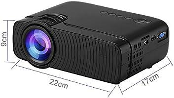 Mini proyector AC3 HD 720P Compatible con 1280x800 2400 lúmenes ...