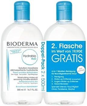 Bioderma hydrabio H2O micela Solución de limpieza de 500 ml + 500 ml gratis (solo hasta final de Existencias), 1set: Amazon.es: Belleza