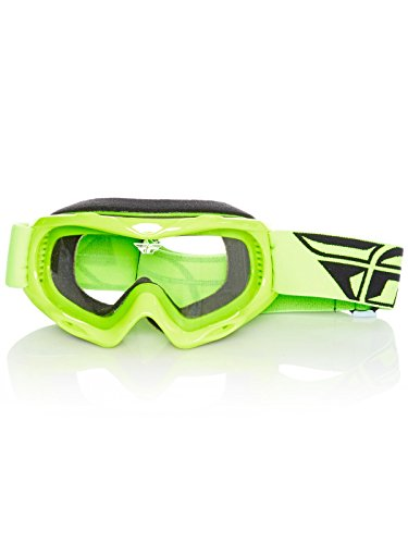 Fly Racing Men's Focus Youth Goggle (Hi-Vis W/Clear Lens, One Size)