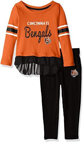 Outerstuff NFL Cincinnati Bengals Toddler Mini Formation Long Sleeve Top & Legging Set Orange, 3T ()