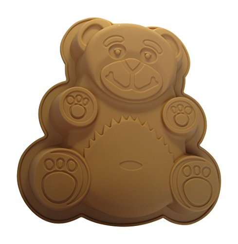 cmsHome(R) Premium Silicone Novelty Bear Cake Pan Dessert Salad Mold Non-toxic BPA-free Baby Shower (Teddy Bear Cake Pan compare prices)