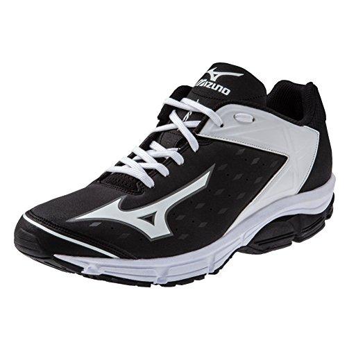 Mizuno Wave Swagger 2 Trainer Mens Turf Shoe 12.5,12.5 Black-White