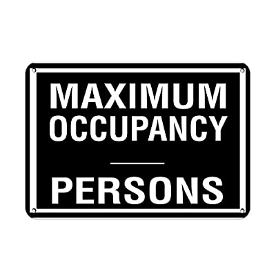 Teisyouhu Metal Aluminum Sign Maximum Occupancy Persons Activity Sign Pool Signs Plaque for Yard Garage Driveway House Fence