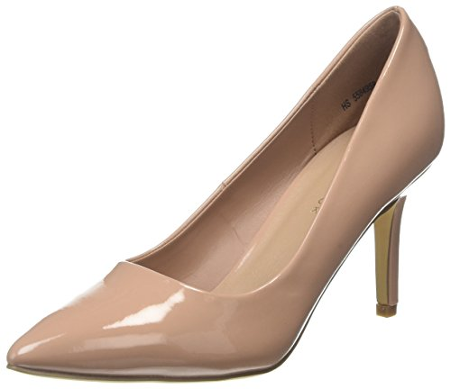 New Look Symbolic 4 PU Point, Escarpins Bout Fermé Femme Ecru (Oatmeal 14)