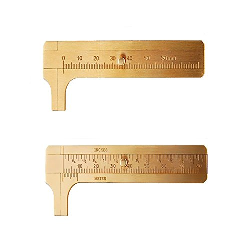 - Preamer 2pc Mini Brass Sliding 80mm Metric and Inch Caliper Gauge Vernier Bead Wire Jewelry Measuring
