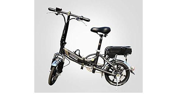 XWZG Adultos Bicicleta eléctrica Plegable 350W 48V 10A Batería de ...