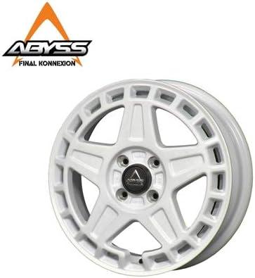 【ABYSS02】 鍛造 15インチホイール ホワイト 1本 SUZUKI MK53S スペーシアギア 15×4.5J +45 4/100 1ピース 5本スポーク VIA/JWL 【PGFK-ABS2-TK26-1WT】 ファイナルコネクション