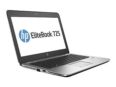 "HP EliteBook 725-G3 Business Notebook, AMD A8-8600B/A8X4-1.6G, 16GB/2-DIMM, 256GB/SSD, MR GBE 802.11AC+BT Webcam, AMD-RADEONR6/IGP, Windows 10 Pro-64 bit, Aluminum, 12.5"""